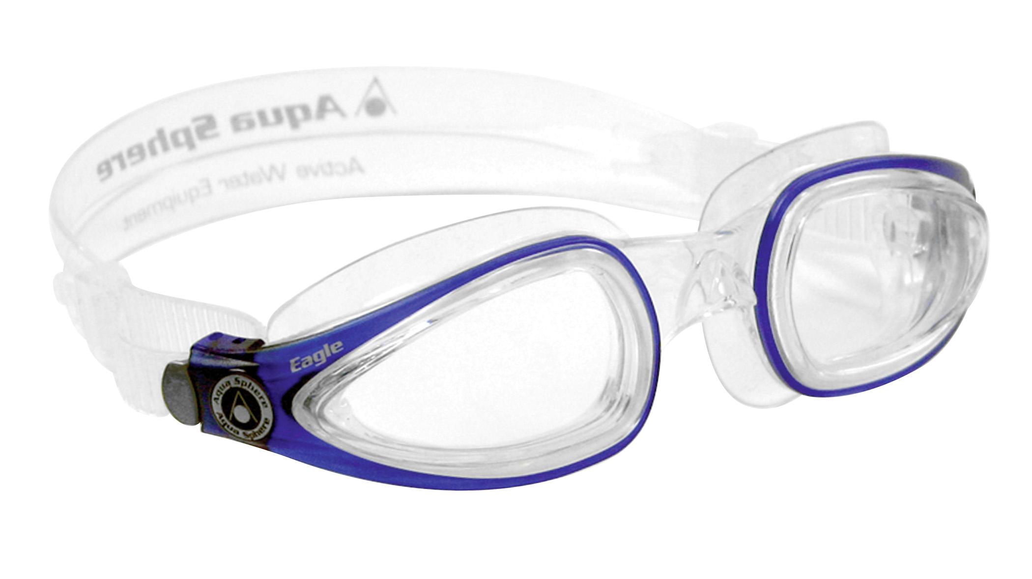 e08adb82388c Svømmebriller med styrke i bedske kvalitet BLÅ KLAR GLAS - Aquashoppen