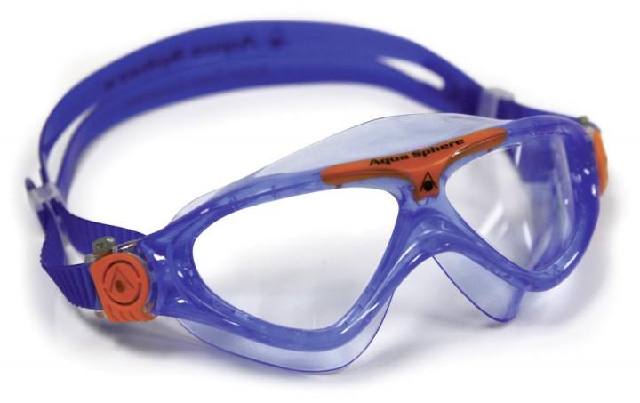 a99a21b2d08 AQUA SPHERE Vista Junior Triathlon Svømmebrille 4-14 år KLART BLÅ ...