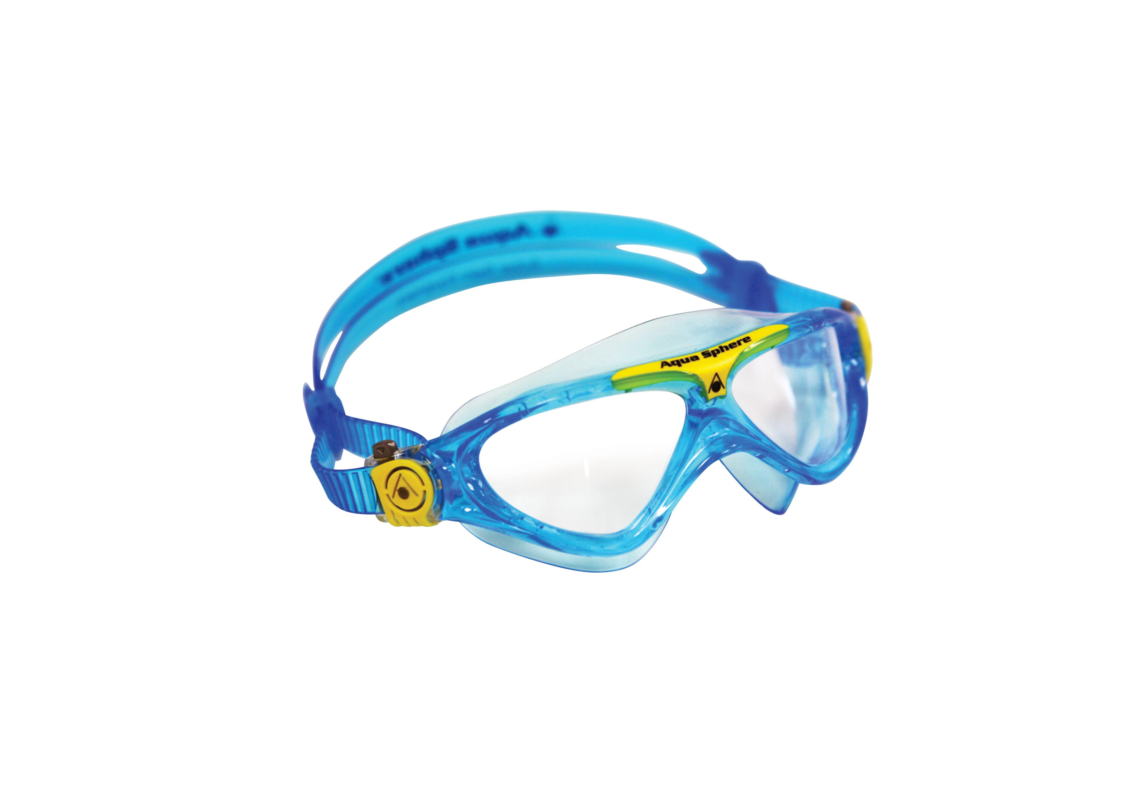 446f1342d84 AQUA SPHERE Vista Junior Triathlon Svømmebrille 4-14 år KLART AQUA ...