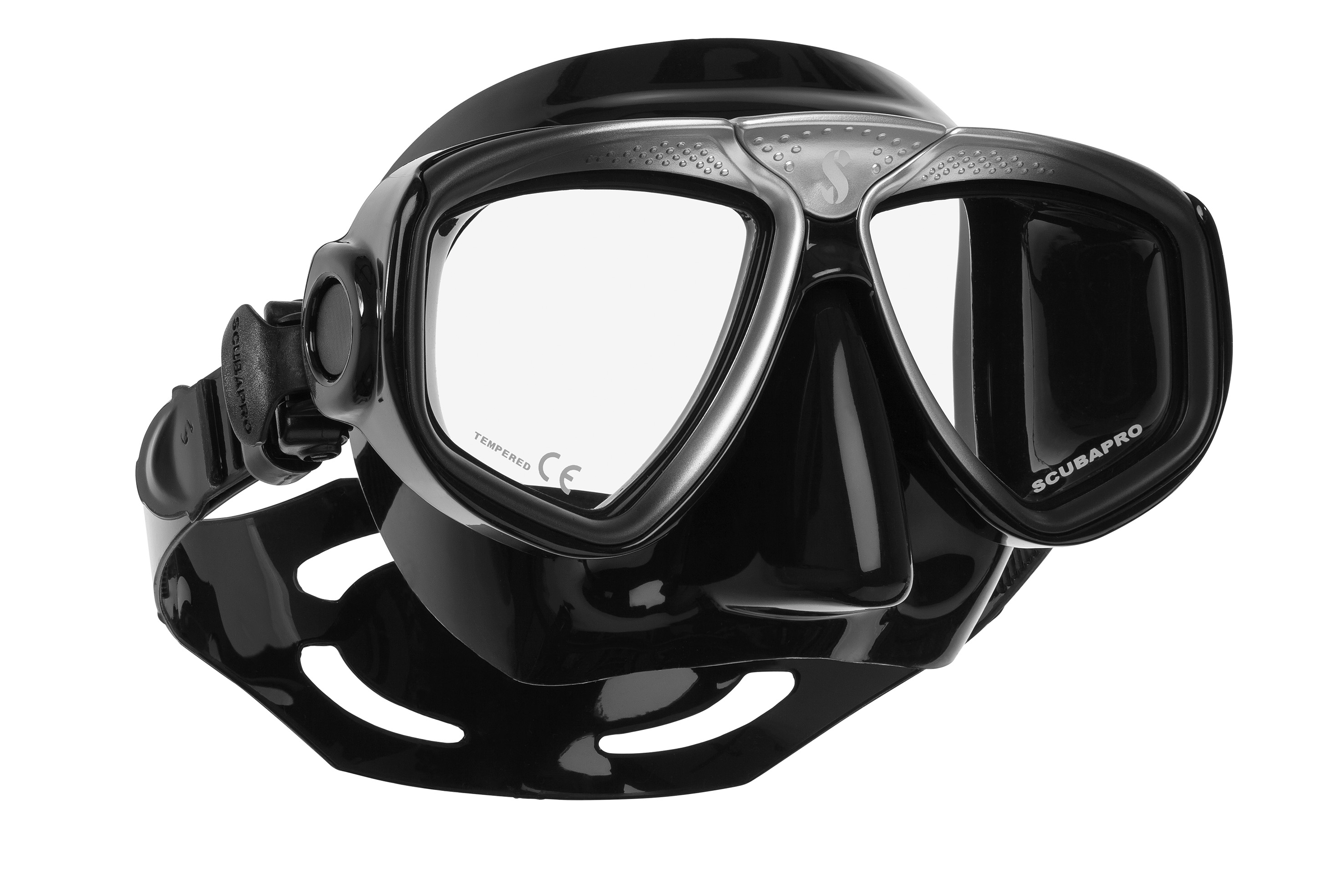 67113d32b77 Flot kvantitets dykkermaske til optiske styrkeglas SORT/SILVER ...